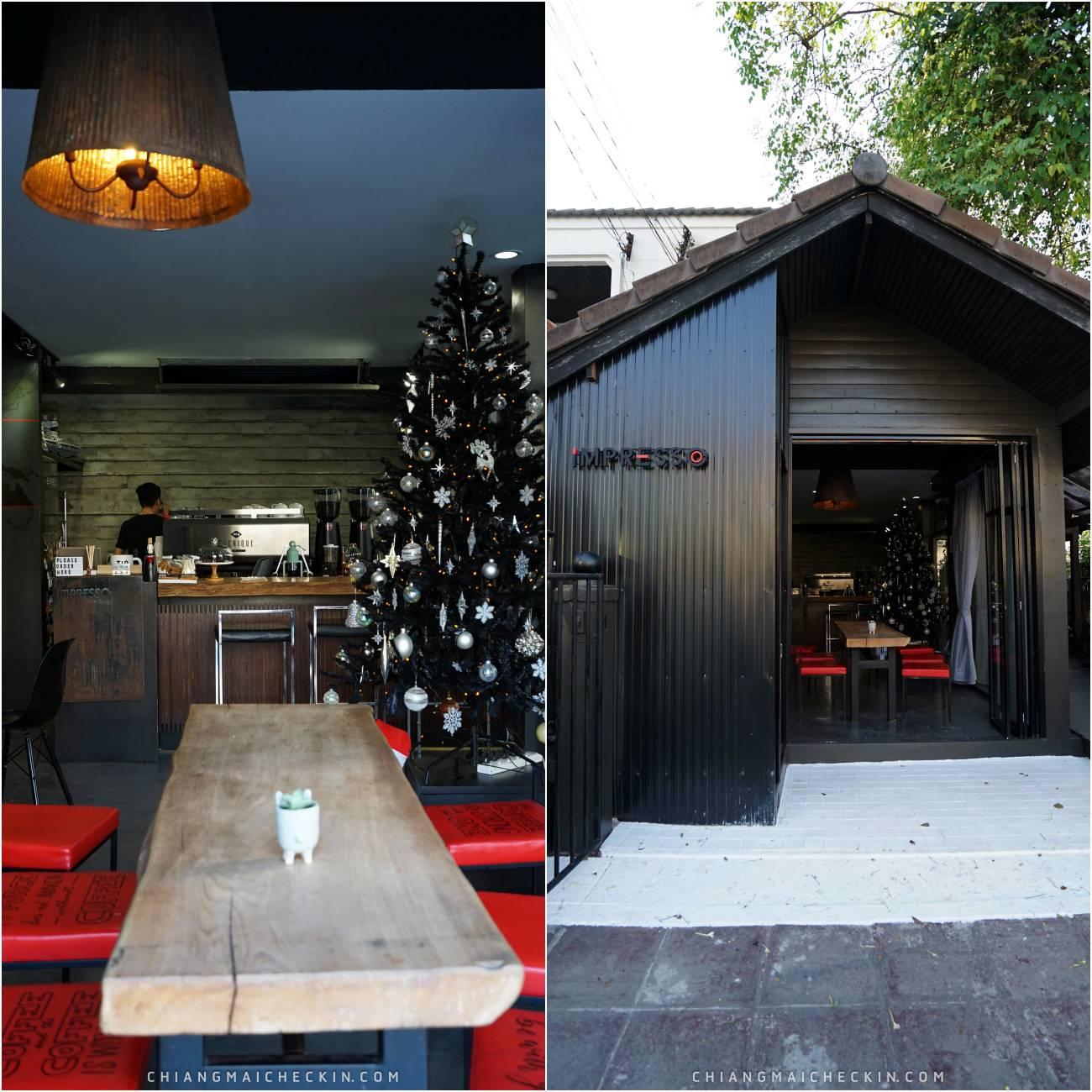 Impresso ร้านคาเฟ่ที่มีกาแฟเข้มๆเหมาะกับสายกาแฟที่แท้ทรู ร้านเป็นเคาท์เตอร์บาร์ยาวคู่กับเคาท์เตอร์ชงกาแฟห้ามพลาดด