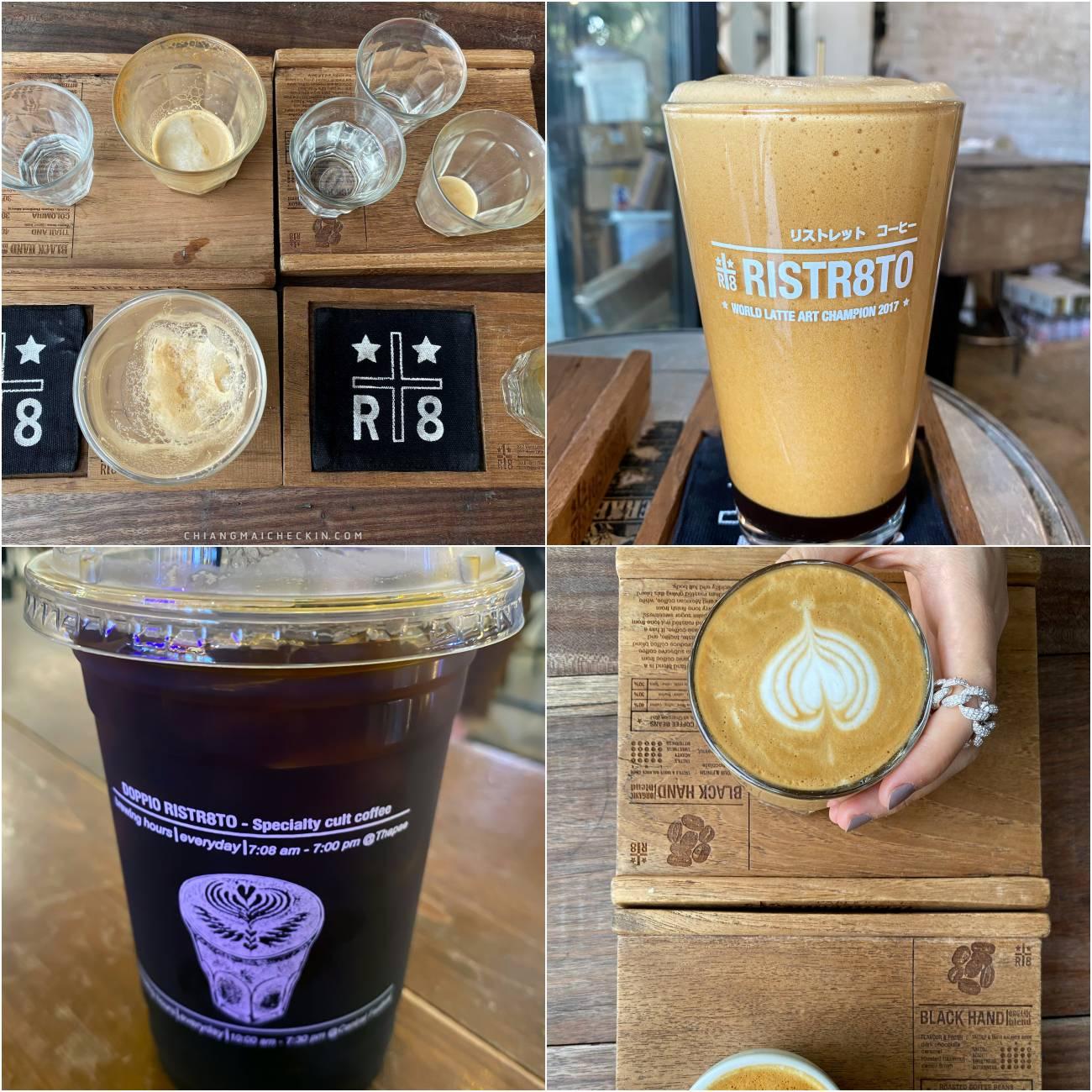 Ristretto coffee ร้านกาแฟแบบ Open Air กาแฟรสชาติดีได้ความหอมกรุ่นของกาแฟตั้่งแต่เข้าร้านเลยย