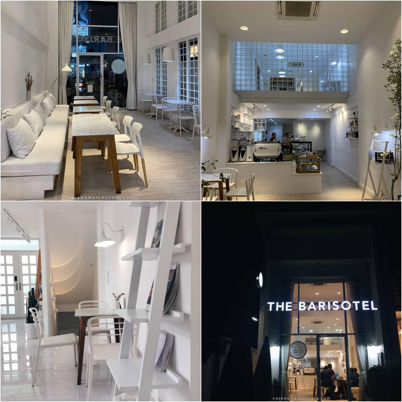 The Barisotel คาเฟ่ใจกลางเมืองเชียงใหม่ตกแต่งด้วยโทนสีขาว ขนมและกาแฟอร่อย บรรยากาศดียยย์