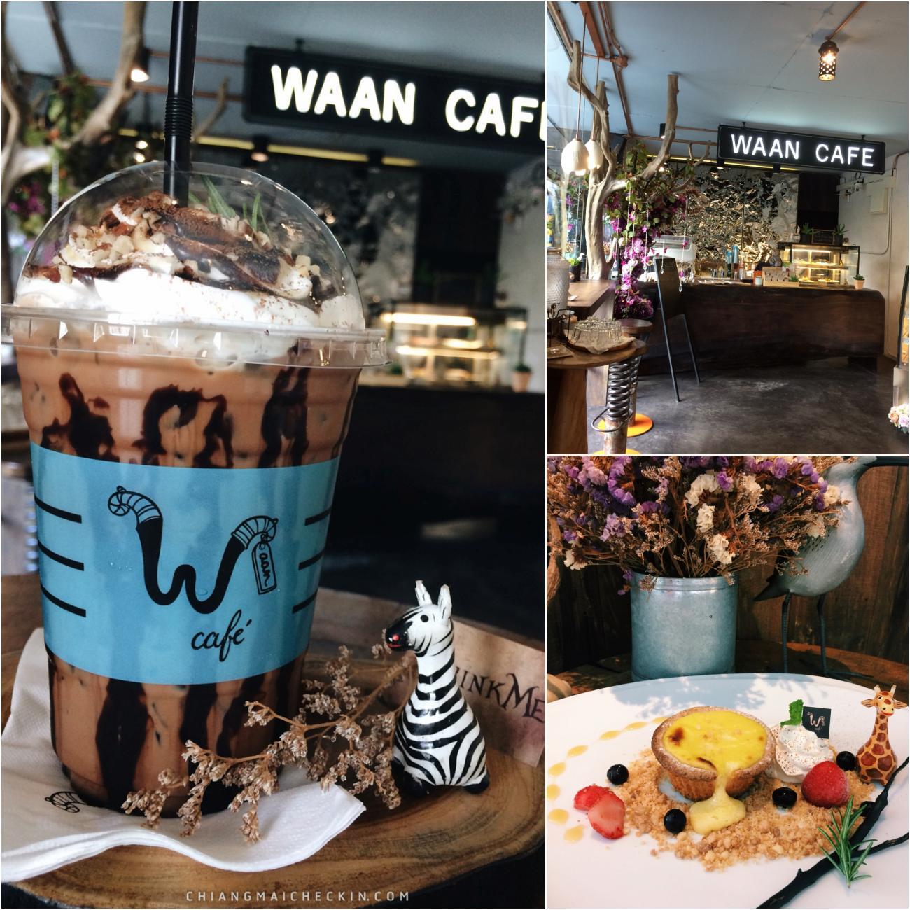 Waan Caf Nimman ร้านน่ารักสไตล์ Magic and Miracle ตกแต่งสวย เจ้าของร้านแนะนำ High tea wonder forest and Hokkaido double fromage มาลองชิมกันเลย