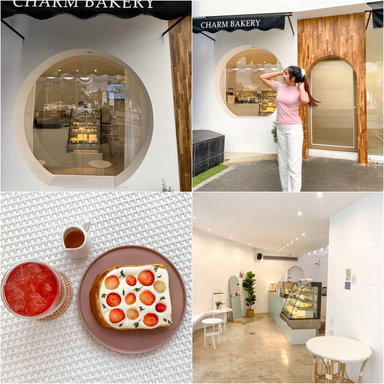 CHARM BAKERY HK คาเฟ่เก๋ๆมีโซนที่เรียกว่า Baking Studio ให้คนรักการทำขนมไปรับประสบการณ์การทำขนมเองอีกด้วยพลาดไม่ได้แล้วว