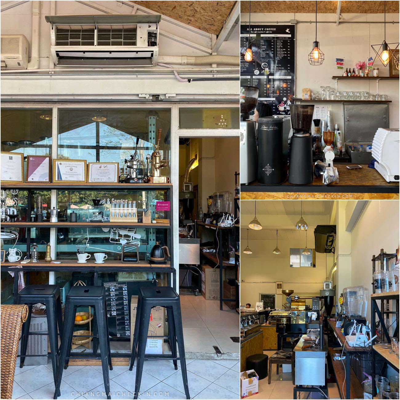 all about coffee ร้านกาแฟสุดโมเดิร์นสุดน่ารักฟรุ้งฟริ้ง มีมุมถ่ายรูปเพียบให้สาวๆได้เลือกถ่าย